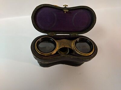 Antique Lemaire French Paris Mother of Pearl Opera Glasses w Case