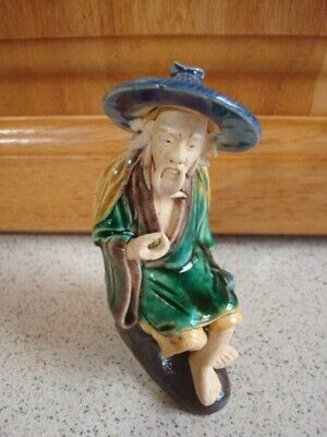 Vintage Antique Mud Man Figurine......Bonsai