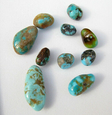 Kingman AZ Turquoise Natural Nugget LOT specimen Rock Lapidary Crystal Healing