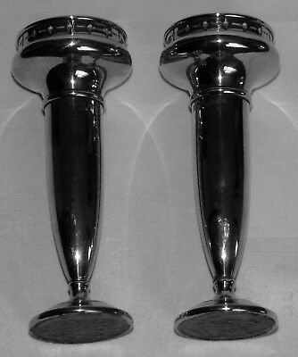 Pair Art Nouveau Silver Plated Vases Dated by Registration Number  as 1922 pans