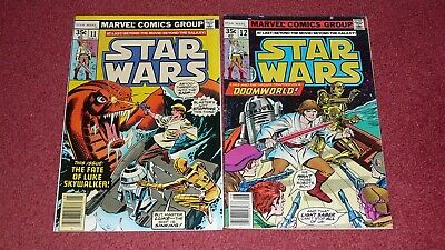 STAR WARS lot - 5 issues: #s  11, 12, 13, 14, 15  (Marvel, 1978) NR!