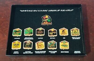 1999 Walt Disney World 12 Pin Set Something New In Every Corner Of Our World