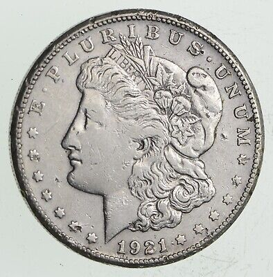 1921-S Morgan Silver Dollar - Last Year Issue 90% $1.00 Bullion *040
