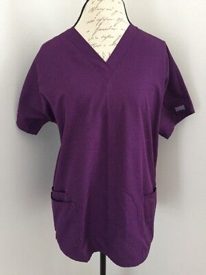 Cherokee Workwear Scrub Top Purple Size Medium