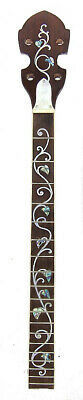 4 String Tenor 19 fret Banjo Neck Maple MOP & Abalone ivy Inlaid FTBN19 byCC