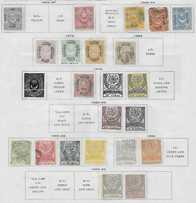 21 Turkey Stamps from Quality Old Album 1865-1899
