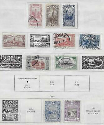 10 Turkey Stamps from Quality Old Album 1913-1916