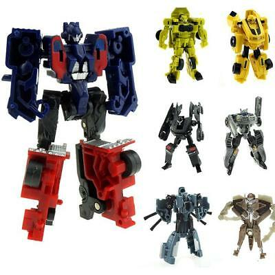 Mini Transformer Figures Toys Optimus Prime Ironhide Bumble Bee Robots For Kids&