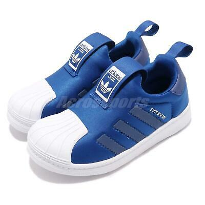 adidas Superstar 360 C Core Royal Blue White Kids Boys Girls Sports Shoes CG6571