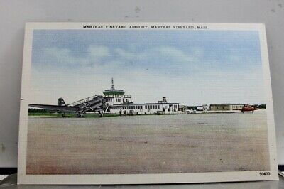 Massachusetts MA Marthas Vineyard Airport Postcard Old Vintage Card View Post PC