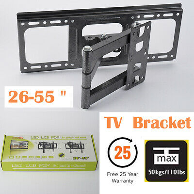 TV Wall Mount Bracket Swivel Full Motion LCD LED 26 29 32 39 40 42 49 50 55 Inch