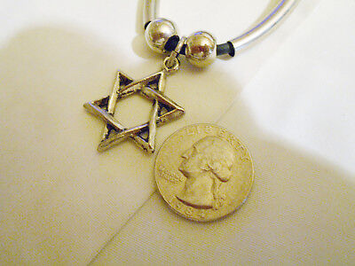bling pewter 6 point star witch myth demonic goth pendant charm necklace jewelry