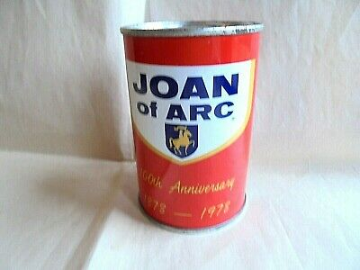 Vintage Joan of Arc Canned Foods 1878-1978 100th Anniv Advertising Can Coin Bank