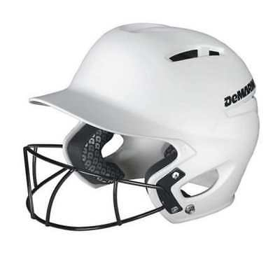 DeMarini Paradox Pro Fitted Adult Batting Helmet w Mask, Small White WTD5421WHS