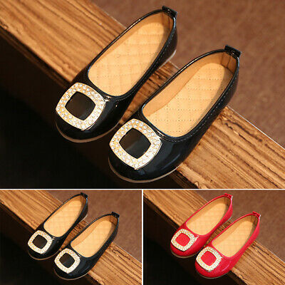 Lovely Children Girls Princess Shoes Kids Girls Single Pu Leather Dance Shoes