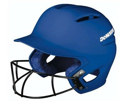 Demarini Paradox Pro Batting Helmet Fastpitch Softball W/ SB Mask (Royal, L)