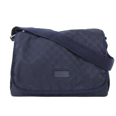 Gucci Diaper Bag/backpack Navy Guccisima Changing Pad Included