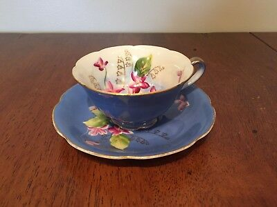 Hand Painted Trimont China Japan Teacup And Saucer
