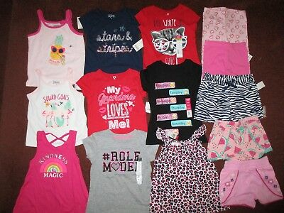 NWT'S Huge 14Pc. Girls Size 4T Spring Summer  NAME BRAND Lot Clothes & Outfits