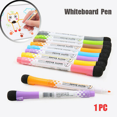 Magnetic Whiteboard Pen Erasable Dry White Board Markers Magnet Eraser Non-toxic