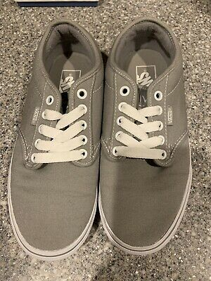 0371533281898 Vans Ward Skate Shoes Women s 7.5 Gray White Low Top Canvas Sneakers (Worn  Once)
