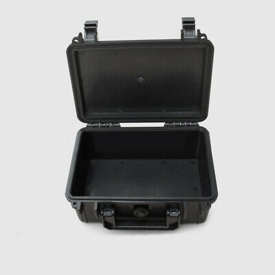 Portable Plastic Case Waterproof Tools Storages Box Organizer With Sponge Black
