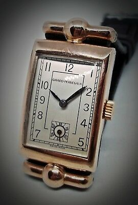 Girard Perregaux Art Deco Baguette Movement Fancy Hooded Lugs Swiss