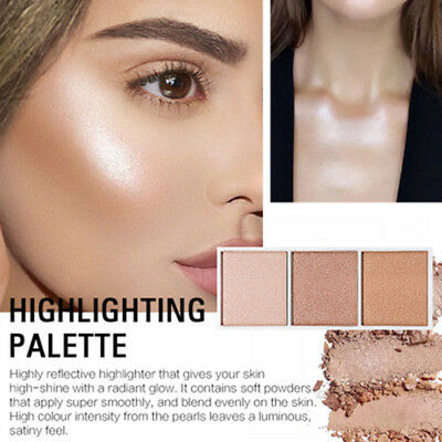 Highlighter Palette Makeup Face Contour Powder Bronzer Make Up Blusher Palette