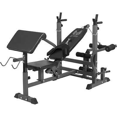 Gyronetics Series E Universal Multi Incline Bench Banco de Pesas con Soporte