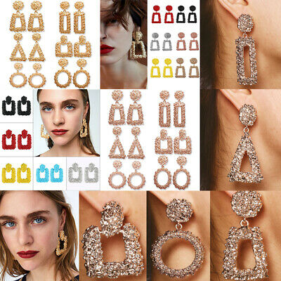 2019 Fashion Punk Dangle Geometric Big Drop Earrings For Women Statement Jewelry