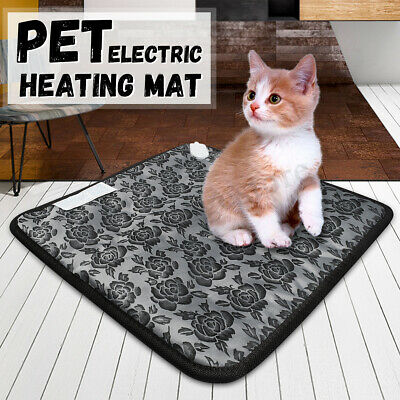 Pet Electric Heated Heating Heater Pad Mat Cushion Blanket Bed Dog Cat Bunny AU