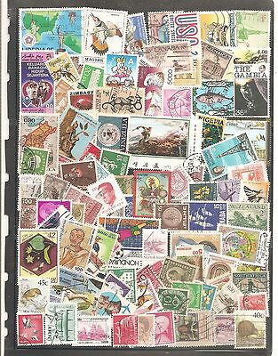 Packet Of 100   Mixed World Off Paper Fine Used All Different  Stamps