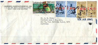 (M 3) Philippines to Australia (many Red Cross stamps) 1970's