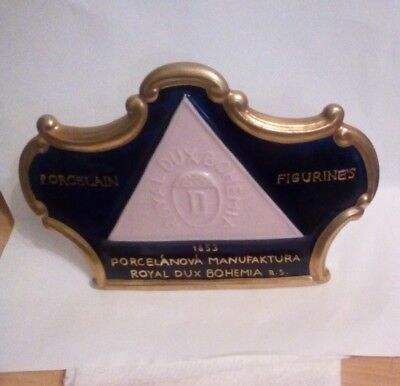 royal dux point of sale plaque