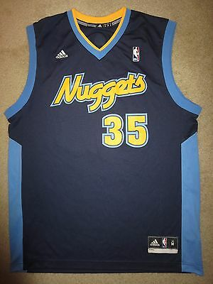 Kenneth Faried Denver Nuggets NBA adidas Jersey M Medium Autograph Signed  Auto 222636799