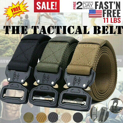Outdoor Heavy Duty Rigger Military Tactical Belt W/ Quick-Release Metal Buckle