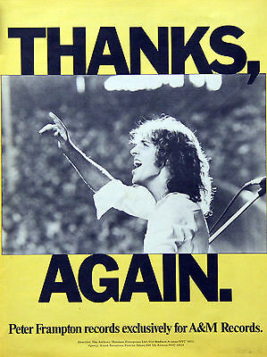 Peter Frampton Vintage & Rare 1970s Promotional Ads Collection