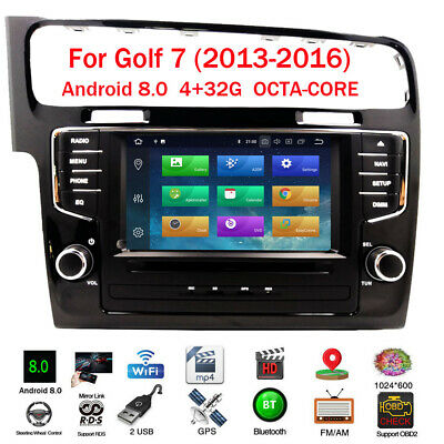 Android 8.0 Autoradio NAVI GPS DVD BT WIFI USB FM AUX Touch 4G+32G Für VW GOLF 7