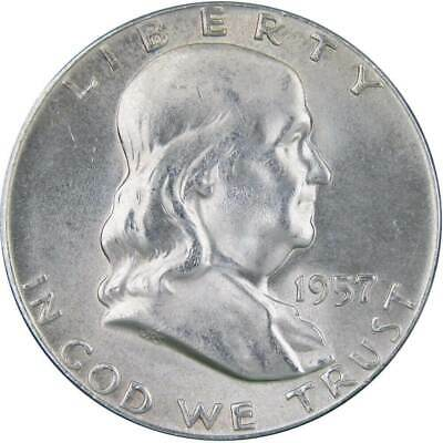 1957 Franklin Silver Half Dollar Uncirculated Mint State