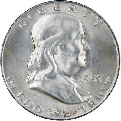 1957 D Franklin Silver Half Dollar Uncirculated Mint State