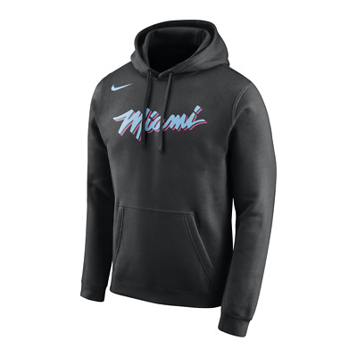 Pullover NIKE MIAMI HEAT VICE NIGHTS LOGO HOODIE - Collection - RARE