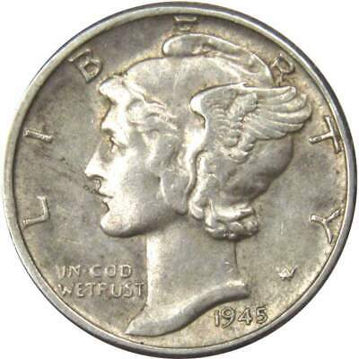 1945 Mercury Silver Dime AU-About Uncirculated