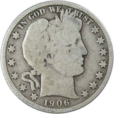 1906 D Barber Silver Half Dollar Average Circulated