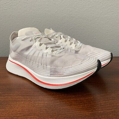 13372bc2508cb NIKE ZOOM FLY SP BREAKING 2 sz 11 White Sail Crimson Racing Nike Lab ...