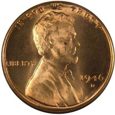 1946-D 1c Lincoln Wheat Cent Penny Uncirculated Mint State