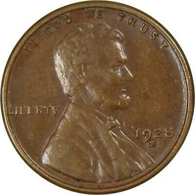 1928-S 1c Lincoln Wheat Cent Penny XF EF Extremely Fine