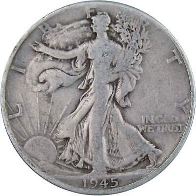 1945 D Liberty Walking Silver Half Dollar Average Circulated