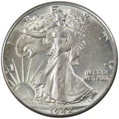 1942 Liberty Walking Silver Half Dollar Borderline Uncirculated