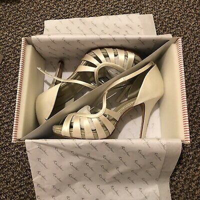 2a2e859bd94 Rainbow Club Cassie Bridal Wedding Shoes Sparkling Heeled Sandals Ivory  Size 5.5