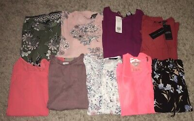 Ladies Clothes Bundle Job Lot Size 10 New Look Work Shirts Blouses With Tags 99p